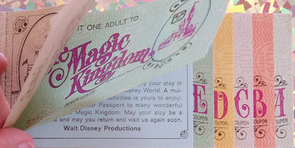 Ticket Books Walt Disney World