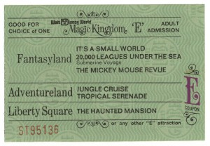 E Ticket, Walt Disney World 1971