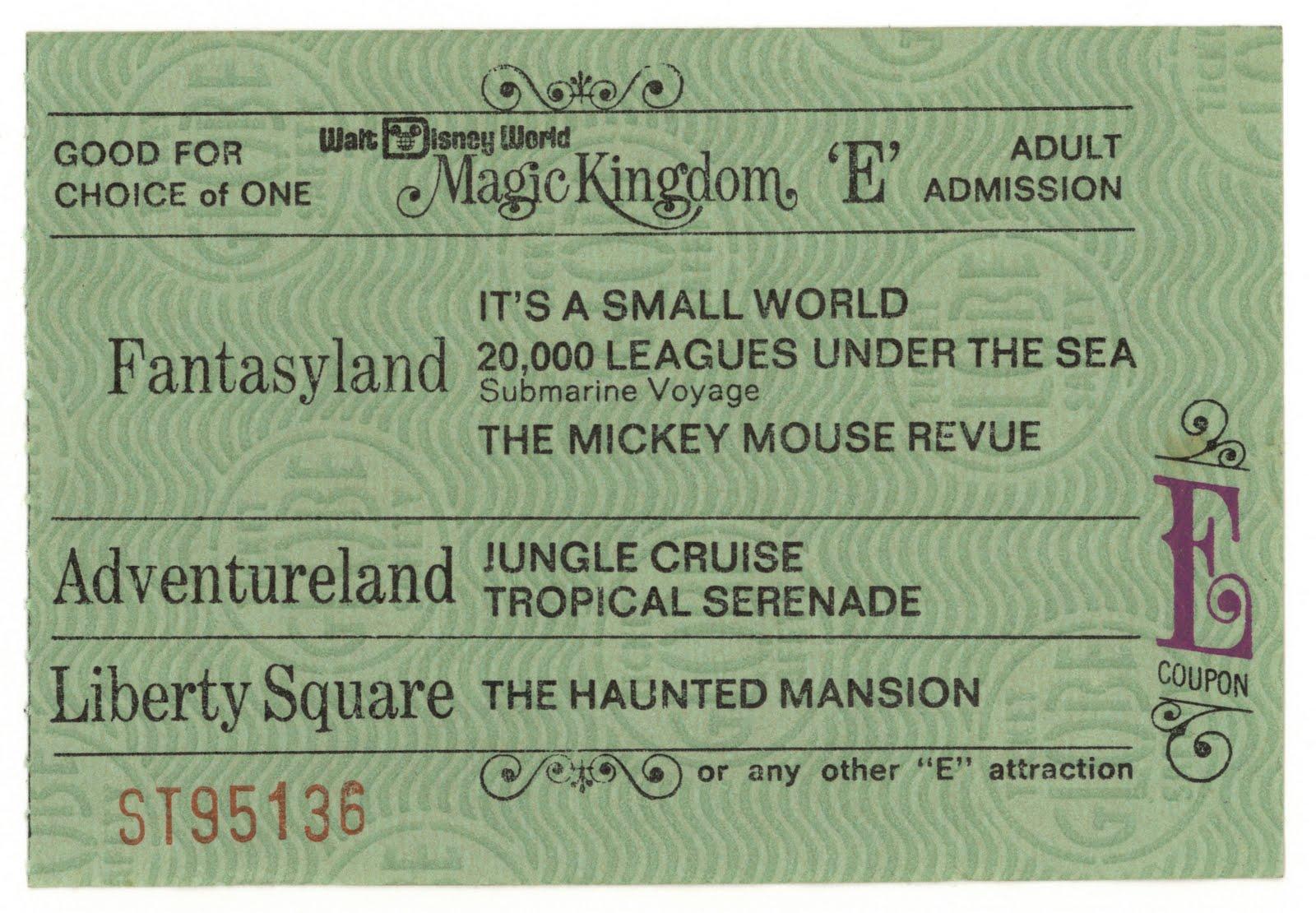 tickets Adult disney