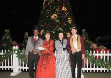 Now Snowing carolers Celebration FL