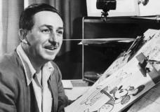 Walt Disney at drawing board