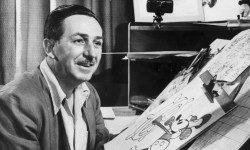 Walt Disney at drawing board