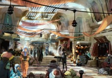 Star Wars Land Marketplace Concept Art 2016