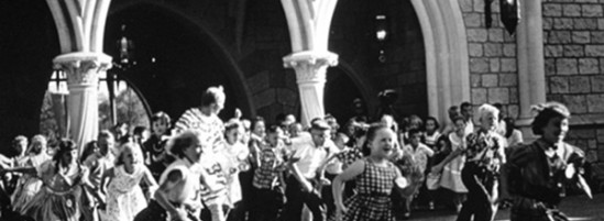 First Kids to Enter Castle on Disneyland's Opening Day