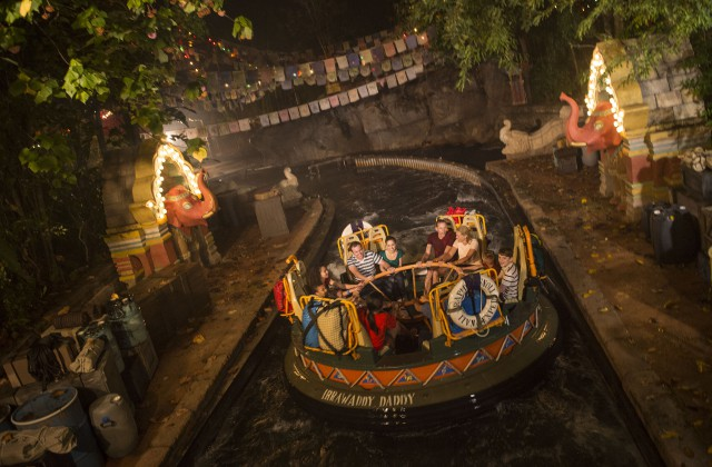 Kali River Rapids night, Disney's Animal Kingdom 2016