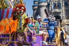 Zootopia characters at Magic Kingdom 2016