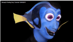 Chrisspy transforms face into Finding Dory