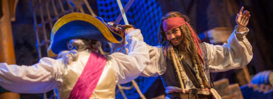 Captain Jack Sparrow in Mid-Air Duel at Shanghai Disneyland