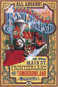 Disneyland Train Poster