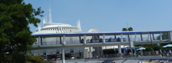 Tomorrowland Peoplemover Gliding Since 1975 in Walt Disney World