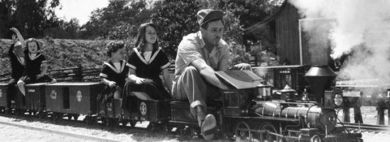 Walt Disney and His Train