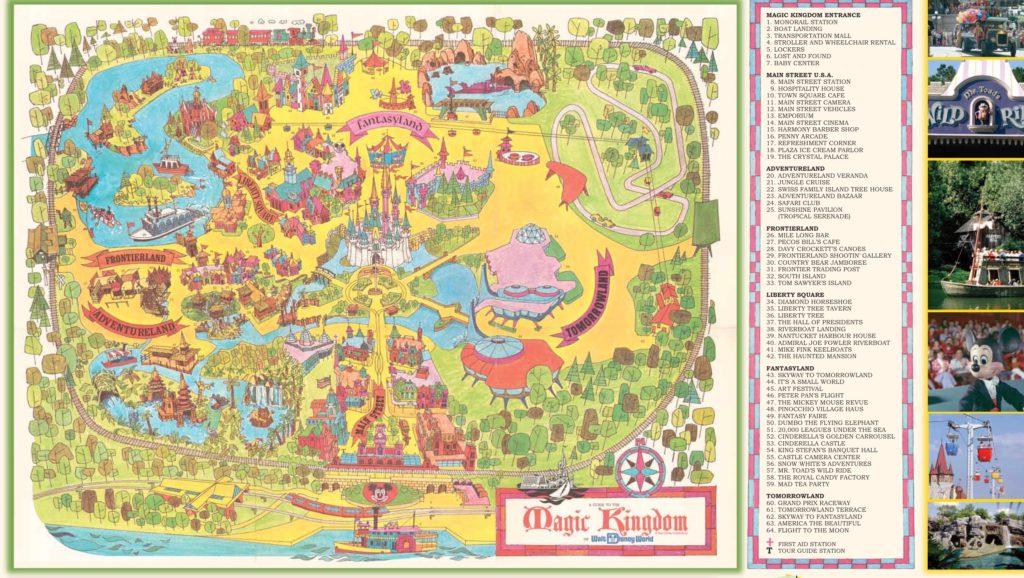 Magic Kingdom 1971 map, Walt Disney World