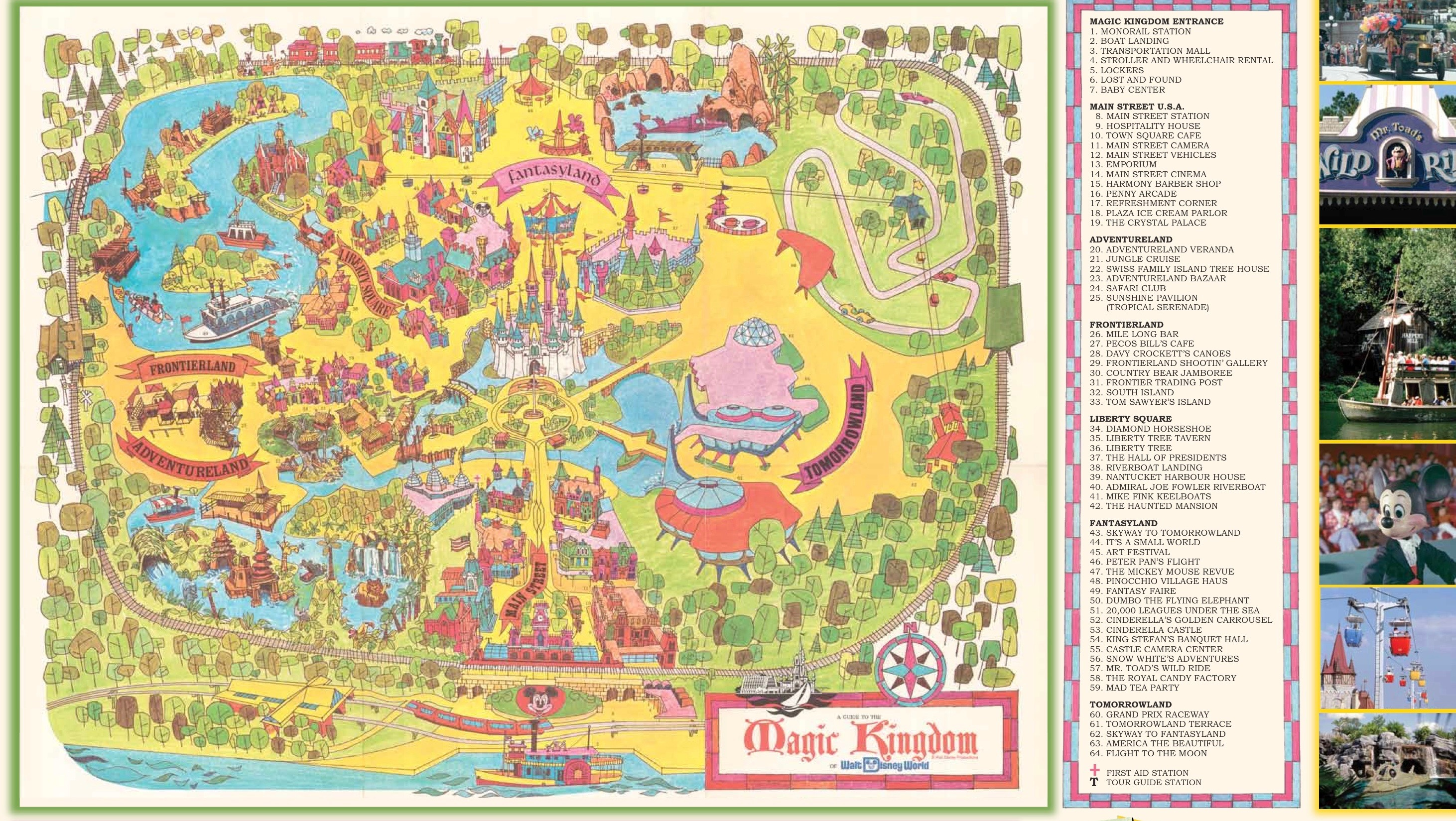 Walt disney world celebrates 45th anniversary magic kingdom 1971 map walt disney world gumiabroncs Choice Image
